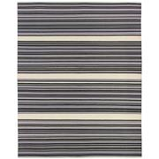 Sale 8912C - Lot 14 - India Flatweave Purple Stripe Rug, 160x230cm, Wool & Cotton
