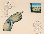 Sale 9032A - Lot 5047 - Salvador Dali (1904 - 1989) - Untitled (Melting Hand ) 20 x 25 cm (frame: 53 x 62 x 3 cm)