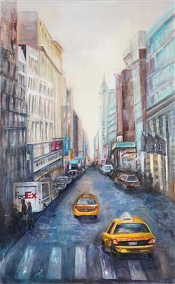 Sale 9042A - Lot 5002 - Joy Lieber - Cityscape 122 x 76 cm