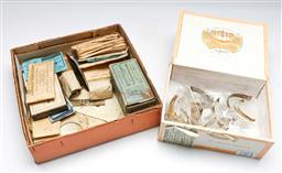 Sale 9156 - Lot 60 - A collection of various wristwatch parts