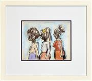 Sale 8297 - Lot 587 - Josef Herman (1911 - 2000) - Three Women 20 x 24.5cm