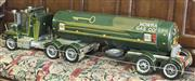 Sale 8319 - Lot 207 - Handmade model of a truck and milk trailer c1990