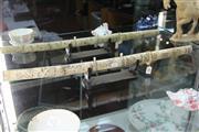 Sale 8308 - Lot 16 - Carved Bone Wakizashi on Stand