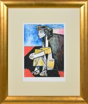 Sale 8349A - Lot 47 - Pablo Picassso (1881 - 1973) - Portrait of Jacqueline Roque with Her Hands Crossed, 1954 33.5 x 25cm