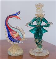 Sale 8369A - Lot 17 - Two Murano aventurine items including a Dandy and a fish