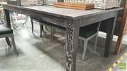 Sale 8404 - Lot 1094 - Oak Dining Table with Blackened Finish (210cm)