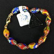 Sale 8402D - Lot 100 - Murano Millefiori Art Glass Bracelet (Length - 20cm)