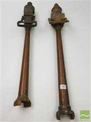 Sale 8439F - Lot 1866 - Two French Copper Fire Nozzles