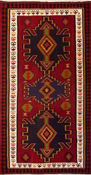 Sale 8455C - Lot 44 - Persian Turkman Kilim 360cm x 190cm
