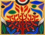 Sale 8492 - Lot 564 - John Coburn (1925 - 2006) - Tree of Life - Autumn 75.5 x 91cm