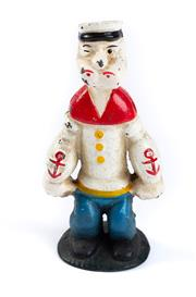 Sale 8855D - Lot 630 - A cast iron Popeye money box, H15cm