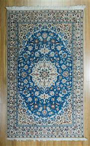 Sale 8665C - Lot 85 - Persian Nain Silk Inlaid 200cm x 150cm