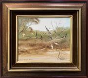 Sale 8668 - Lot 2002 - Robert Taylor, Major Mitchells Cockatoo, 1979, oil on board, 29 x 31cm (frame size), s.l.r