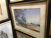 Sale 8690 - Lot 2017 - Lionel H Taprell - Road to Windsor, watercolour, 37.5 x 55.5cm, signed lower right