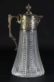 Sale 8890 - Lot 54 - A Whitehill Silver Plated Claret Jug (H 28cm)