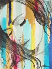 Sale 8938A - Lot 5070 - Kristie Stenning (1980 - ) - Untitled (Female Portrait) 122 x 91 cm (total: 122 x 91 x 4 cm)
