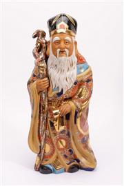 Sale 9015C - Lot 744 - Ceramic figure of an elder (H47.5cm)
