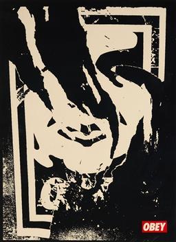 Sale 9125A - Lot 5074 - Shepard Fairey - Untitled 58 x 43.5 cm (frame: 75 x 59 x 2 cm)