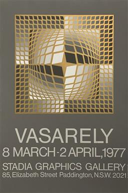 Sale 9212A - Lot 5025 - VICTOR VASARELY (1906 - 1997) - Exhibition Poster for Stadia Graphics Gallery, 1977 96.5 x 71.5 cm, sheet