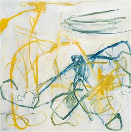 Sale 9191H - Lot 53 - GWYN TOSI Abstract acrylic on canvas 101 x 101 cm signed verso