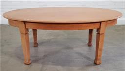 Sale 9191 - Lot 1030 - Birch oval dining table (h:72 mx w:182 x d:80cm)
