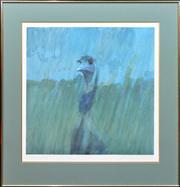 Sale 8347A - Lot 100 - Lars Knudsen (1931 - ) - Emu 60 x 60cm