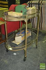Sale 8287 - Lot 1013 - American Art Brass Deco Drinks Trolley