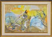 Sale 8363 - Lot 519 - Donald Friend (1915 - 1989) - Untitled (Boy and Dragon) 30.5 x 47cm