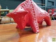 Sale 8493 - Lot 1016 - Jema Flambe Bull (slight chip)