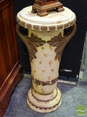 Sale 8545 - Lot 1001 - Resin Plant Stand with Floral Motifs