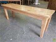 Sale 8601 - Lot 1328 - Oak Bench (H: 45 L: 127 W: 35cm)