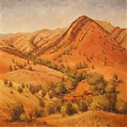 Sale 8624 - Lot 594 - Walter Magilton (1933 - ) - Land of Ochre 75 x 75cm