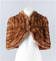 Sale 8828F - Lot 25 - A Vintage Wild Mink Bolero By Hammerman Furs, Size Small