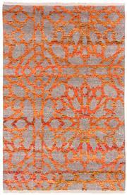 Sale 8860C - Lot 49 - An India Mosaic Design Sari Silk, in Sari Silk & in Handspun Wool 297x197cm