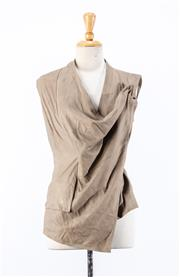 Sale 8891F - Lot 81 - A Morrison taupe goatskin vest, size medium