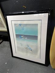 Sale 8914 - Lot 2097 - Catherine OConnor - Beach Scene, limited edition print, 101 x 83 cm (frame), signed lower right