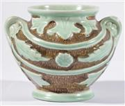 Sale 9015 - Lot 23 - A Burleigh Ware Ceramic Twin Handle Vase H: 13cm (chip to rim)