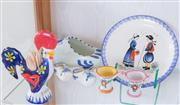 Sale 8369A - Lot 19 - A group of colourful earthenwares from France, Portugal and Holland