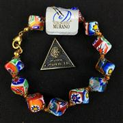 Sale 8402D - Lot 101 - Murano Millefiori Art Glass Bracelet (Length - 20cm)