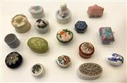 Sale 8436A - Lot 68 - A quantity of decorative pill boxes including Coalport eggs.