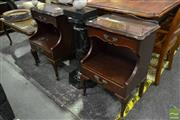 Sale 8520 - Lot 1088 - Pair of Open Bedsides