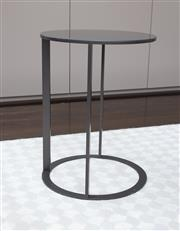 Sale 8782A - Lot 18 - A Frank slate black occasional table by B&B Italia Height 47 x diameter 35cm