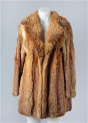 Sale 8828F - Lot 11 - An Australian Red Fox Jacket By Hammerman Furs, Size Medium