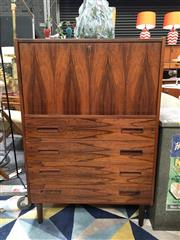 Sale 8859 - Lot 1035 - Rosewood Davenport Desk with 4 Drawers