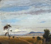 Sale 9047A - Lot 5059 - Albert Sherman (1882 -1971) - Avondale Landscape, NSW 24.5 x 29.5 cm (frame: 36 x 41 x 6 cm)