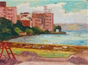 Sale 9013 - Lot 552 - Roland Wakelin (1887 - 1971) - Harbour Wall (Double Bay) 1968 29 x 39 cm (frame: 40 x 50 x 4 cm)