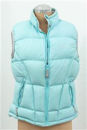 Sale 9066H - Lot 81 - A Kathmandu duck down filled puffer vest in light teal, Size AUS 14