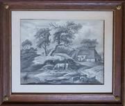 Sale 8342A - Lot 305 - 19th Century Dutch school - Pastoral study Signed and dated verso C.M.K 3 August 1817