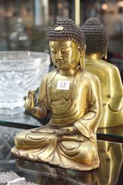 Sale 8322 - Lot 13 - Gilt Bronze Buddha with Qianlong Mark