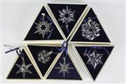 Sale 8384 - Lot 73 - Swarovski Crystal Annual Christmas Decorations - 1993 - 2000 (1996 missing)